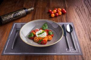burratina and organic tomato salad