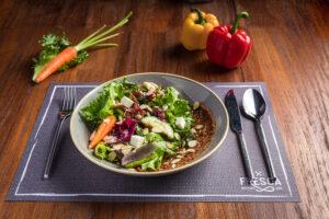 char grilled vegetables salad