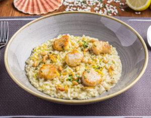 risotto scallops lemon